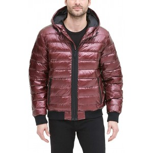 mens Quilted Performance Hooded Bomber Jacket